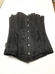 size 24 black corset from Corsets UK