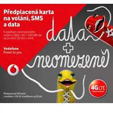 Vodafone Czech Republic prepaid SIM card - Credit 100 CZK+1.2Gb data free
