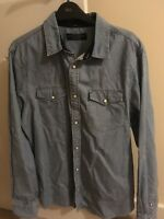 All Saints slim fit Denim Shirt Size Medium men's - perfect condition
