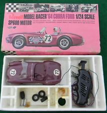 Vintage Revell 1/24th Scale 1964 Ford Shelby Cobra Slot Car Toy With Box