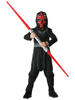 Child Licensed Star Wars Darth Maul Fancy Dress Costume Kids Ages 3-8 Years BN