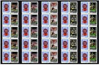 COLLINGWOOD SET OF 5 150th FOOTBALL STRIPS OF 10 MINT VIGNETTE STAMPS