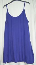 Purple Short Lined Strappy Summer Dress
