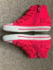 ASH Felix Italia Kids Infant Hi Tops Pink Eur 25 UK7
