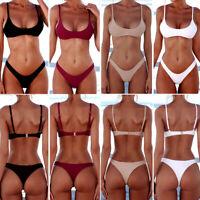 Women Bikini Set Bandage Push-Up Padded Swimwear Swimsuit Bathing Brazilian S-XL