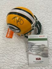 Aaron Rodgers Signed Autographed Green Bay Packers Riddell Mini Helmet - w/COA