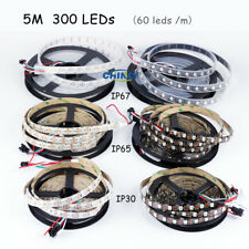 CHINLY 5m Ws2812b Individually Addressable LED Strip Light 5050 RGB SMD 300 Pixe