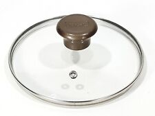"T-Fal  7"" Inner Rim 7 3/8"" Outer Steel Rimmed Vented Glass Replacement Lid Brown"