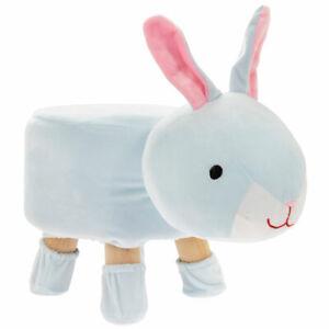 Rabbit Shape Kids Chair Pouffe Cushion Padded Seat Animal Footstool Rest Stool