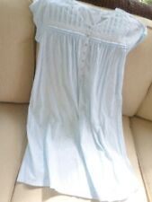 Eileen West Blue & White Floral Cotton Short Gown S NWT