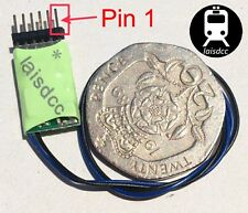 DCC Decoder 2 function 6 pin 2A/1A TT N scale Laisdcc UK Stock £10 each for 3+.
