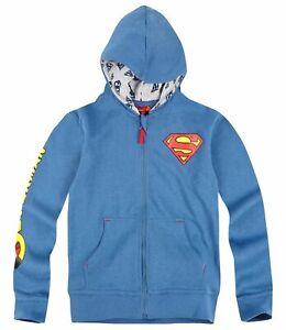 New Boys Sweater Jacket Superman Casual Jacket Hood Blue 104 - 140 #201