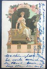 Elisabeth Sonrel, Art nouveau, 1900, Illustratrice, L'été, Carte illustrée CPA