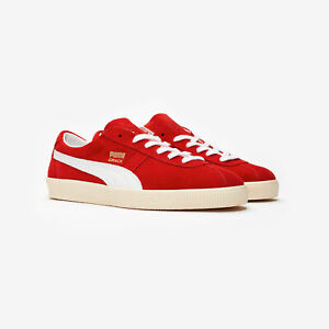 Puma Crack Heritage High Risk Red Suede Retro Fashion Trainers UK Size 3.5 - 12