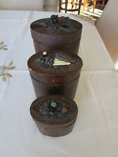 """3 Vintage Signed Jo Marz Container Trinket Boxes Jeweled . 7"""""""