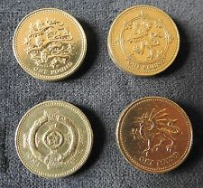 One pound coins-England-N Ireland-Scotland-Wales