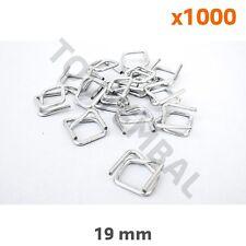 Boucle en acier autobloquante pour feuillard textile 19 mm (par 1000)