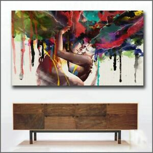 New Love Kiss Oil Painting Canvas Art Paintings For Living Room Wall No Frame