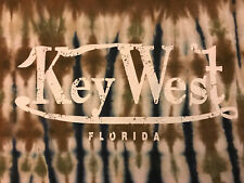 Key West Brown and Blue Tye Dye Short Sleeve Souvenir Tee Shirt Size- Men's MED