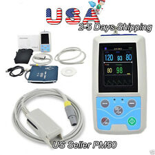 USA Selling Automatic Blood Pressure Monitor PM50 NIBP,SPO2,PR,Software,USB FDA