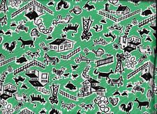 "45"" 100% cotton novelty print ""barnyard"" by RJR Fabrics"