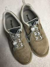 Propet Women's Tan Suede Leather Athletic Comfort Casual Shoes Size Sz 8 Wide a