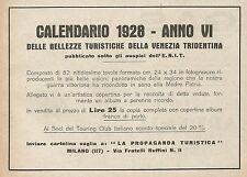 Z0515 Calendario delle bellezze turistiche - Pubblicità del 1927 - Advertising