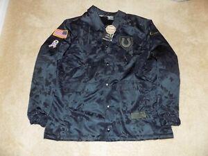 Nike Indianapolis Colts Salute To Service black Camo Jacket Men's XL Fur inside