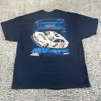 Brad Keselowski #2 Miller Lite Penske NASCAR T-Shirt Size 2XL  - NEW