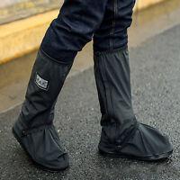 Waterproof Motorcycle Biker Reflective Rain Boot shoes Footweaar Cover Black BDA