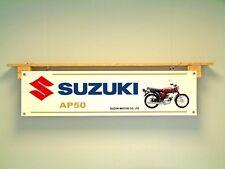 Suzuki AP50 Banner 50cc Pantalla de Motocicleta Ciclomotor Moto Taller Garaje Señal