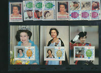 Queen Elizabeth II Mint NH Sets and Souvenir Sheets honoring her 60th Birthday