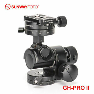 SunwayFoto GH-PRO II Geared Head Professional Panoramic Tripod Head DSLR Camera