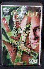 X-Files Season 10 #1 SDCC Signed x 5 Gillian Anderson Chris Carter Dean Haglund