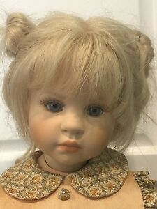"""1999 WPM By Hildegard Gunzel Ma Couer My Heart 24"""" Doll 6517 With Stand 73/250"""