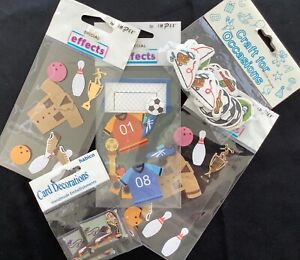 JOB LOT SPORT CARD TOPPERS Card Making Scrapbooking Craft  NEW