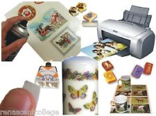100 x Clear INKJET Water Slide Decal Transfer PAPER Printable,Candle,Soap,Models