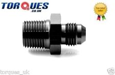 """AN -3 (AN3 AN 03) to 1/4"""" NPT Straight Adapter In Black"""
