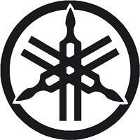 """Yamaha Logo Sticker Tuning Fork 110mm 4.3"""" R1 R6 YZF XJR Fazer Decal Black"""