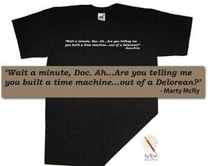 BACK to the FUTURE t-shirt McFly 80s ..Delorean S-XXXL