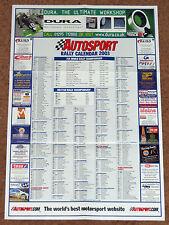Autosport 2003 RALLY CALENDAR - WRC, International, British, Irish Tarmac etc