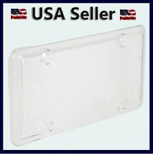 ACRYLIC CLEAR BUBBLE LICENSE PLATE FRAME COVER PLASTIC AUTO TAG SHIELD HOLDER