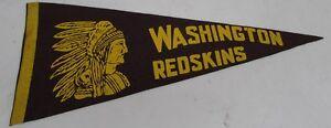 "1940's Vintage Washington Redskins Football Pennant 29"" Very Rare Ex 31074"