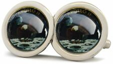 APOLLO 11 CHROME SILVER POLISHED FINISH CUFFLINKS NEW
