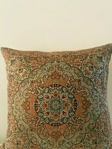 Brown Beige Paisley Floral Cotton Moroccan Gypsy Bohemian Cushion Cover 18