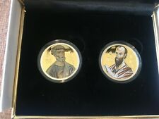 Niue 2 dollars Set of 2 coins Holy Apostles Peter & Paul silver gilded coin 2010