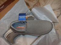 Skechers Authentic Mens Relaxed Fit Memory Foam Gomel 65086/TPE Tan Slip Ons NWB