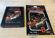 Sears Night Driver Atari with manual 2600