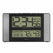 Clock with Temperature & Humidity Technology Wall Hanging 513-1417H-AL-INT