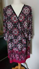 YOURS CLOTHING WRAP OVER TUNIC TOP UK 26-28 BNWT
